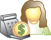 Icona del cassiere Immagine Stock