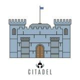 Icona del castello Immagine Stock