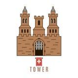 Icona del castello Fotografia Stock
