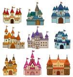 Icona del castello di fiaba del fumetto Immagine Stock