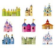 Icona del castello di fiaba del fumetto Immagine Stock Libera da Diritti