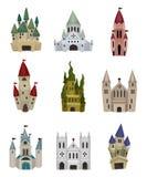 Icona del castello di fiaba del fumetto Fotografie Stock