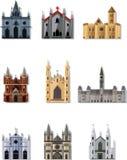 Icona del castello di fiaba del fumetto Fotografia Stock