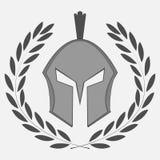 Icona del cavaliere con la corona dell'alloro Immagini Stock Libere da Diritti