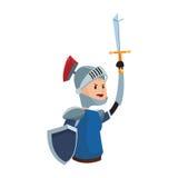 Icona del cavaliere di Medival Immagine Stock Libera da Diritti