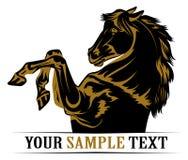 Icona del cavallo del mustang illustrazione vettoriale