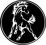 Icona del cavallo di stile fotografia stock