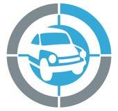 Icona del cerchio dell'automobile Fotografie Stock