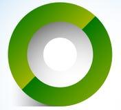 icona del cerchio dell'estratto 3d con ombra trasparente Icona del cerchio illustrazione di stock
