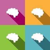 Icona del cervello su fondo colorato Fotografia Stock