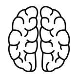 Icona del cervello umano, stile del profilo illustrazione vettoriale