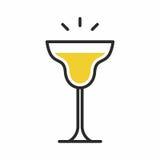 Icona del cocktail Immagine Stock