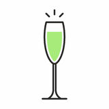 Icona del cocktail Immagini Stock Libere da Diritti