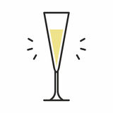 Icona del cocktail Fotografia Stock Libera da Diritti