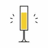 Icona del cocktail Fotografia Stock