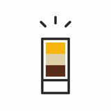 Icona del colpo del cocktail Immagine Stock