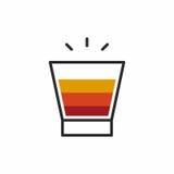 Icona del colpo del cocktail Fotografia Stock