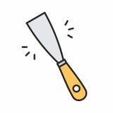 Icona del coltello di mastice Fotografia Stock