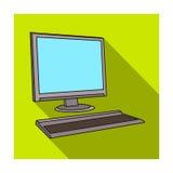Icona del computer nello stile piano isolata su fondo bianco Architetto Symbol Immagini Stock