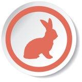 Icona del coniglio Fotografie Stock