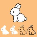 Icona del coniglio Fotografia Stock Libera da Diritti