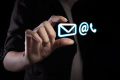 Icona del contatto immagine stock