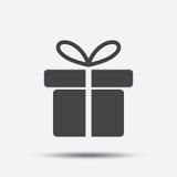 Icona del contenitore di regalo Fotografie Stock