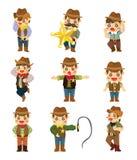 Icona del cowboy del fumetto Immagine Stock
