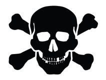Icona del cranio Fotografia Stock
