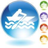 Icona del cristallo del Rowboat