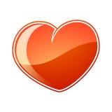 Icona del cuore Fotografie Stock Libere da Diritti