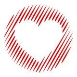 Icona del cuore dell'ombra, stile semplice Fotografia Stock