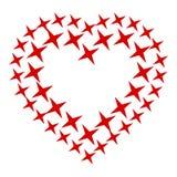 Icona del cuore della stella, stile semplice Fotografia Stock