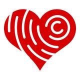 Icona del cuore di marca della società, stile semplice Immagine Stock Libera da Diritti
