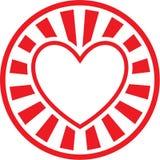 Icona del cuore di vettore Fotografia Stock Libera da Diritti