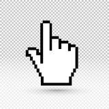 Icona del cursore della mano Illustrazione ENV 10 di vettore Progettazione piana Isolato su fondo trasparente Fotografie Stock Libere da Diritti