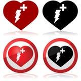 Icona del defibrillatore illustrazione di stock