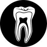 Icona del dente di vettore Fotografia Stock