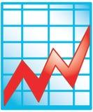 Icona del diagramma Fotografia Stock