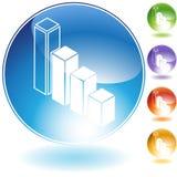 Icona del diagramma a colonna Immagine Stock