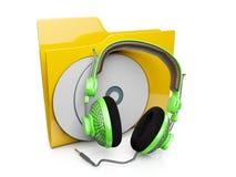 icona del dispositivo di piegatura 3d con la musica di Adio Fotografia Stock