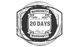 icona del distintivo del bollo di progettazione dell'illustrazione della garanzia da 20 giorni royalty illustrazione gratis