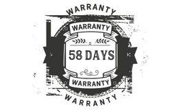 icona del distintivo del bollo di progettazione dell'illustrazione della garanzia da 58 giorni illustrazione vettoriale