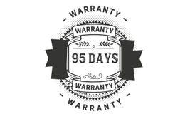 icona del distintivo del bollo di progettazione dell'illustrazione della garanzia da 95 giorni royalty illustrazione gratis