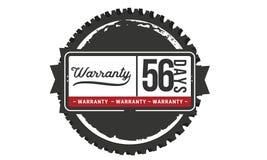 icona del distintivo del bollo di progettazione dell'illustrazione della garanzia da 56 giorni illustrazione vettoriale