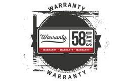 icona del distintivo del bollo di progettazione dell'illustrazione della garanzia da 58 giorni illustrazione di stock