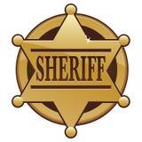 Icona del distintivo dello sceriffo Fotografie Stock Libere da Diritti