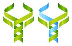 Icona del DNA dell'albero Immagine Stock
