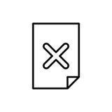 Icona del documento premio o logo nella linea stile Immagine Stock Libera da Diritti
