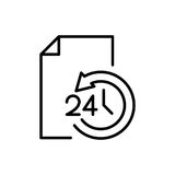 Icona del documento premio o logo nella linea stile Immagini Stock Libere da Diritti